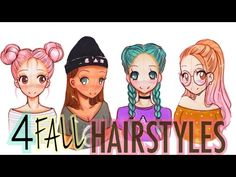 ☕️DRAWING 4 FALL HAIRSTYLES #FALLSERIES☕️ - YouTube