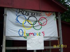 Summer Camp theme day ideas: Olympic Flag-Make your own Olympic Flag to be hung in honor of your camp's Olympic Games! Summer Camp Themes, Summer Camp Crafts, Camping Crafts, Summer Fun, Olympic Flag, Sports Day, Theme Days, Day Camp, Camping Theme