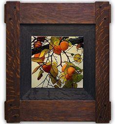 Wild Persimmons   Jan Schmuckal   Frame by Dard Hunter Studios