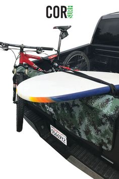 Find the best sustainable, eco-friendly surf and SUP gear including board racks, backpacks, changing towels and more. Surfboard Storage, Surfboard Rack, Bike Storage, Gifts For Surfers, Truck Tailgate, Surf Accessories, Bike Mount, Surf Gear, Canoe And Kayak