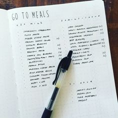 Bullet Journal® Show & Tell: Laura of @bujo.auslife walks us through her setup in her #BulletJournal. Go to meals collection to make meal planning easy.