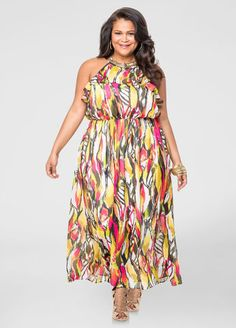Necklace Halter Maxi Dress  POPOVER PRT MAXI W/NECKLACE The post  Necklace Halter Maxi Dress  appeared first on  Vintage & Curvy .  http://www.vintageandcurvy.com/product/necklace-halter-maxi-dress