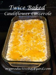 Twice Baked Cauliflower Casserole is a great low carb substitute for twice baked potatoes. If