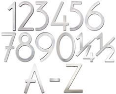 Stainless Steel House Address Numbers Letters