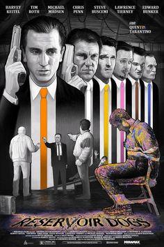 Alternative Movie Poster Movement : Reservoir Dogs by John Barry Ballaran Iron Man by Cesar Moreno Best Movie Posters, Classic Movie Posters, Movie Poster Art, Classic Films, Quentin Tarantino, Tarantino Films, Films Cinema, Cinema Posters, Gravure Illustration