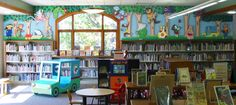 Dimensional Mural (and reading nook truck) at the Freemont Library in Freemont, Indiana