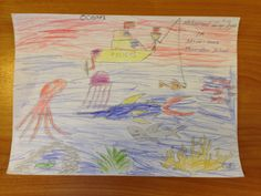 Mohamed Faiqu Ilyaz - Age 6 Drawing Competition, Ocean Day, Marine Conservation, Oceans Of The World, Age, Drawings, School, Sketches, Drawing