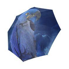 Hyacinth Macaw Foldable Umbrella. FREE Shipping. FREE Returns. #umbrellas #parrots