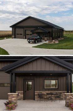 If you need an extra space at home or you have a land-plot where you need to storage your stuff- you have to build metal garage! The best part is that they could even have a living quarter too. Pole Barn House Plans, Pole Barn Garage, Garage House Plans, House Floor Plans, Shop House Plans, Car Garage, Metal Barn Homes, Pole Barn Homes, Pole Barns
