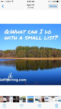 🅰️: Every thing you can do with a large list❗️So get started...