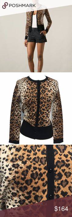 Red Valentino Leopard Cardigan, size s/m Brand: Red Valentino  Size: S/M  Condition: New without tags  Brown and black silk, cotton and wool blend leopard cardigan from Red Valentino featuring a round neck, long sleeves, a front button fastening and a leopard print. RED Valentino Sweaters Cardigans