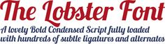 Free font: Lobster | How About Orange