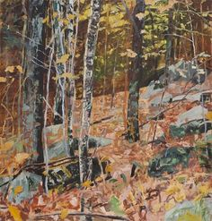 Forrest Moses  October Forest, 1993 .oil On Canvas 50 in x 48 in #015365  LewAllen Galleries