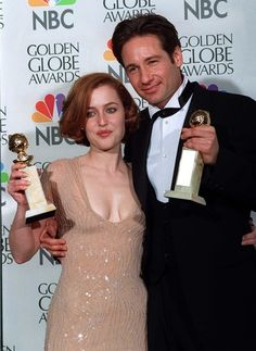 David and Gillian Golden Globes 1997