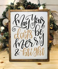 Christmas in JULY! Create one thing extraordinary this Christmas! If you order this framed Joyful w Custom Wood Signs, Rustic Signs, Rustic Decor, Wooden Signs, Farmhouse Christmas Decor, Farmhouse Kitchen Decor, Farmhouse Signs, Country Christmas, Christmas Signs