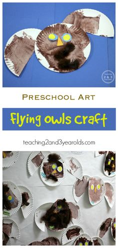 How to make a paper plate owl with moving wings - perfect for preschoolers! - Teaching 2 and 3 Year Olds