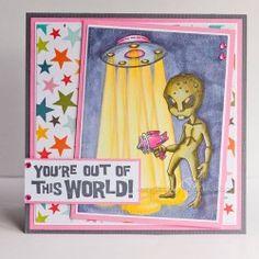Visible Image stamps - Alien Invader set - Lisa Nygards