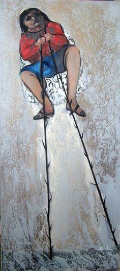 Vislumbrando el futuro 35 cm x 80 cm Óleo-Lienzo 2012 3.000€  #arte #art #artecubano #cubanart #galerías #galleries #pintura #painting #EdelBordon Painting, Floating Island, Cuban Art, Canvases, Islands, Future Tense, Pintura, Painting Art, Paintings