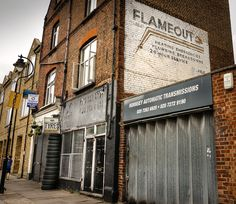 Flameout ghost sign, London