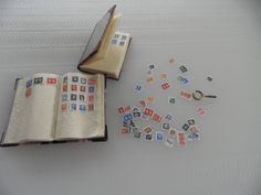 2 x 1/12th SCALE DOLL'S HOUSE STAMP ALBUMS, STAMPS AND MAGNIFYING GLASS | eBay