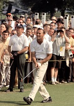 Day In Golf History: July 1968 - Arnold Palmer became the first golfer to make a million dollars in career earnings after he tied for second place at the PGA Championship. Augusta Golf, Golf Images, Golf Stance, Classic Golf, Masters Golf, Vintage Golf, Golf Tips For Beginners, Sports Figures, Golf Fashion