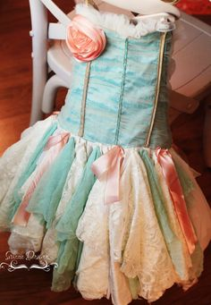 Handmade Happily Ever After Infant to Size 10 Tutu Dress, Snazzie Drawers