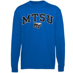 fd186eecb Middle Tennessee State Blue Raiders Youth Midsize Long Sleeve T-Shirt -  Royal