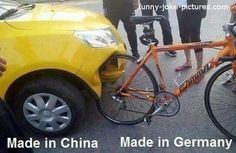 Funny Made In China Germany Crash Picture | Funny Joke Pictures