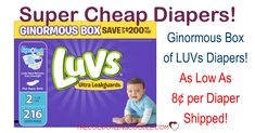 HOT BUY!! Get SUPER CHEAP LUVs Diapers! Pay as low as $0.08 per diaper shipped! Definitely a stock up price!  Click the link below to get all of the details ► http://www.thecouponingcouple.com/super-cheap-luvs-diapers/ #Coupons #Couponing #CouponCommunity  Visit us at http://www.thecouponingcouple.com for more great posts!