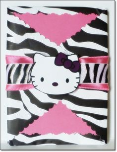 Hello Kitty Zebra Invitation. Excellent invitation for baby showers and birthday parties.