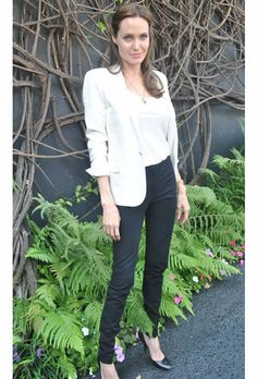 Angelinda Jolie #SaintLaurent #blackandwhite