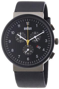 Braun Classic Ceramic Chronograph Watch, BLACK