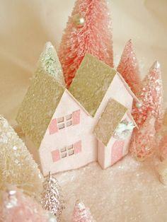 Glittery Christmas village - some tutorials