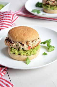 Avocado and Chile Lime Chicken Burgers
