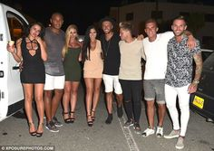 Night out! Later the girls posed alongside their fellow cast, including Nathan Henry, Kyle Christie, Marty McKenna, Gaz Beadle and Aaron Chalmers