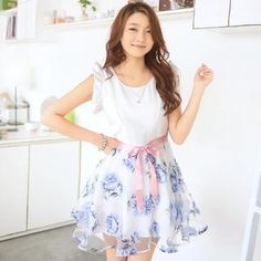 Buy '59 Seconds – Two-Tone Floral Dress with Sash' with Free International Shipping at YesStyle.com. Browse and shop for thousands of Asian fashion items from Hong Kong and more!