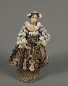 Shell Doll  1850  Materialwood | cloth | shell  Germany | France National Museum of Play Online Collections