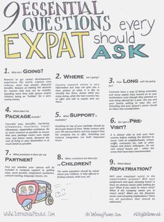 Before committing to relocating overseas, answer these 9 important questions and think of their impact on you and your family. Discover more invaluable tips and support at www.definingmoves.com. The key to a successful international move (or any move for that matter) is to be prepared and make the most of the many resources available! Images created by Ali Bodden Clarke