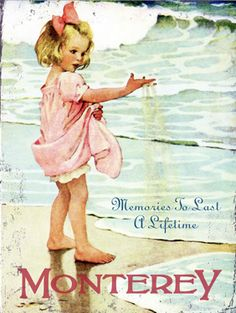 Sweet vintage poster for a sweet girls room.