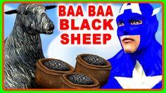 Captain America Rhymes for Children | Baa Baa Black Sheep Rhyme | Superh...
