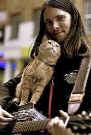 cat Bob and James Bowen