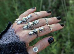 Sterling Silver Ring Sterling Silver Geometric by DeerGirlDesigns