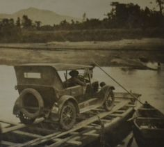 Approaching Cape Town in the Model T Ford. Yet another river to cross