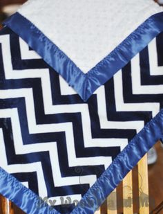 Double Minky Baby Blanket with Satin Trim (Straight or Ruffled) YOU CHOOSE colors and size..... Personalization Available