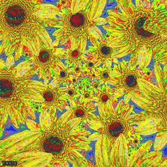 "sozzel: "" billtavis: ""flowerzz "" Bill Tavis makes cool GIFs which refrence infinity, he wrote the program to makes these halftones by himself. """
