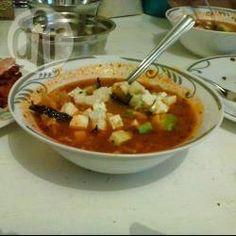 Foto de la receta: Sopa de tortilla exquisita Tortillas, Chili, Avocado, Mexican Food Recipes, Ethnic Recipes, Allrecipes, Chana Masala, Thai Red Curry, Food And Drink