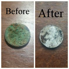 Removing Corrosion on Old Coins / Small Metal Objects : 5 Steps (with Pictures) - Instructables How To Clean Coins, How To Clean Pennies, How To Clean Metal, Rare Coins Worth Money, Valuable Coins, Antique Coins, Old Coins, Antique Glass Bottles, Glass Jars