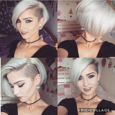 Choppy and Wavy Lob - 60 Inspiring Long Bob Hairstyles and Long Bob Haircuts for 2019 - The Trending Hairstyle Shaved Side Hairstyles, Bob Hairstyles, Shaved Side Haircut, Short Hair Undercut, Short Hair Cuts, Short Hair With Undercut, Short Bob Haircuts, Trending Hairstyles, Pixie Haircut