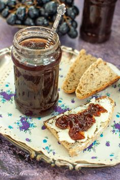 Fig Butter, Meals In A Jar, Preserves, Peanut Butter, Deserts, Canning, Breakfast, Sweet, Recipes