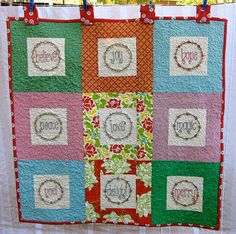 Christmas believe, joy, hope quilt